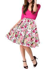 Knee Length Party Floral Flippy, Full Skirts for Women