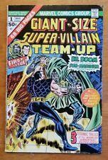 GIANT-SIZE SUPER-VILLAIN TEAM-UP #1 Great Shape Marvel 1974 Doom & Sub-Mariner