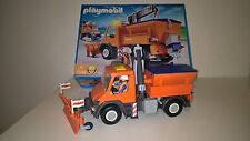 4046 PLAYMOBIL CHANTIER : Camion chasse neige / chauffeur