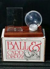 Baseball Card and Ball Holder / Display NIB Wood Base