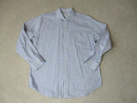 Peter Millar Button Up Shirt Adult Extra Large White Purple Plaid Casual Mens