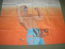Sting rare collectible wcw wwf wwe wrestling large fabric photo poster