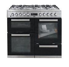 Beko 100 cm Range cooker Dual Fuel Double Oven range cooker KDVF100X