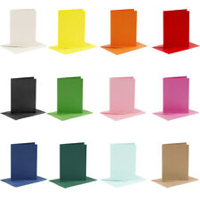 6 Coloured A6 Cards & Envelopes for Card Making Crafts | Card Making Blanks