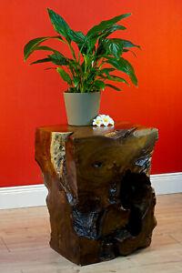 Root Wood Coffee Table Solid Wood Flower Stand Block Klotz Teak Wood