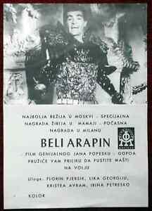 1965 Original Movie Poster De-a? fi Harap Alb White Moor Ion Popescu Romanian