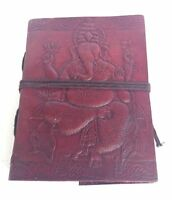 Various sizes Large Diary Leather Recycled Ganesha Embossed Notebook Journal