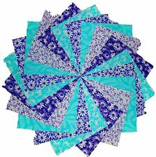 """40 5"""" Quilting Fabric Squares Cool Breeze/Shades of Purple and Blue/ Gorgeous!!!"""