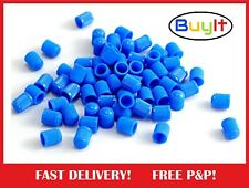 1000x Plastic Tyre Valve Dust Caps To Work For You BLUE