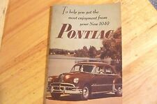 1949 Pontiac automobile Owner's Manual with Lubricatiion sheet   Original