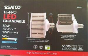 SATCO    8932  80 W  LED  HID  SB  10,000 Lumens 5000K   E39    100 - 277V
