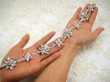 Rhinestone Bridal Dress Chain Diamante Costume Trim Beaded Motif Wedding Edging