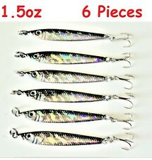 1.5oz Mega Live Bait Metal Jigs Sardine 6 Pieces Saltwater Fishing Lures