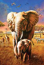New Toland Garden Flag Pachyderm Pals - Elephants - Elephant Flag 12.5 x 18