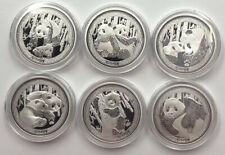 2017 China 35th Anni Gold Panda Coin Issue Silver Medals Set Total:120g with COA