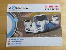 LE MANS 24 HOURS 2014 NISSAN nismo ZEOD RC SOUVENIR CARD. VERY COLLECTABLE. MINT
