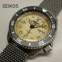 Seiko 5 Sports SRPD67 Day Date Box SS Automatic Mens Watch Authentic Working