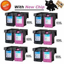 New Chip Black Color Ink Cartridge Combo pk For HP 60XL 61XL 62XL 63XL 64XL 65XL