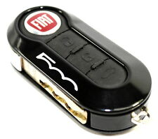 Fiat 500 Single Black Remote Key Cover Case New Genuine 50927024B