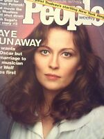 People Magazine Faye Dunaway Peter Wolf March 28, 1977 012419nonrh