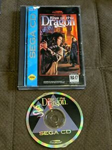 Rise of the Dragon Sega CD SCD Complete in Case Authentic Nice