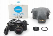 【Exc++++】Minolta New X-700 Black Body + MD 50mm f/1.7 w/ Case/Box from JAPAN(113