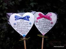 Memorial Mamá Papá De Corazón Tumba Adorno-Personalizado Placa Rosa-Azul-Padres Día