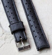 Genuine Tropic Swiss 16mm dive watch band rubber curved ends NOS dive 100+ sold