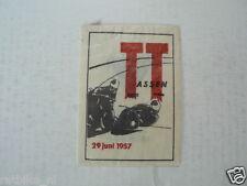 SUKERZAKJE SUGAR BAG DUTCH TT ASSEN 1957  MOTO GP WEGRACE ROADRACE