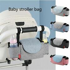 Baby Pram Organiser Mummy Bag Storage Buggy Stroller Pushchair Bottle Cup Holder
