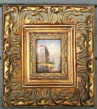 "Paris Painting Eiffel Tower & Palais Chaillot Gold Frame 10"" x 9"""