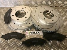 DRILLED & GROOVED FRONT BRAKE DISCS & PADS FORD RANGER 2.2 3.2 TDCI 2011-2016