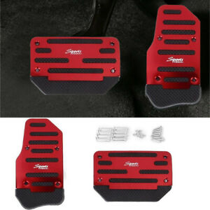 2x Non-Slip Pedal Brake Foot Cover Treadle Belt RED Cars Automatic Accelerator