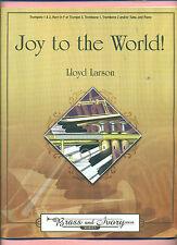 JOY TO THE WORLD BRASS & IVORY SERIES NEW MUSIC BOOK TRUMPET TROMBONE TUBA PIANO