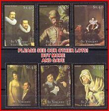 ST.VINCENT = FAMOUS PAINTINGS by REMBRANDT, HALS  MNH COSTUMES, MUSIC (K-J18)