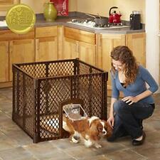 North States MyPet Indoor/Outdoor Petyard: Pet enclosure with 4-Panel Brown