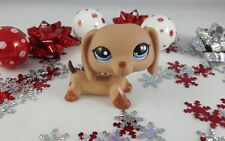 Littlest Pet Shop Costco Exclusive Tan Dachshund Dog #1211 Dot Symbol Eyes