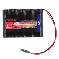 Tenergy NiMH Receiver RX Rechargeable Battery Pack 6V 2000mAh for RC Aircrafts