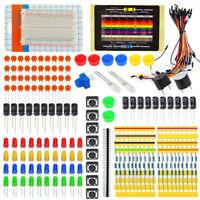Starter Lernen Set für Arduino Raspberry Pi Steckbrett Kabel Widerstand