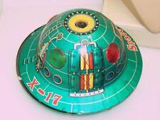 Trade Mark Modern Toys X-17 Space Patrol Flying Saucer Tin Litho Toy TLC