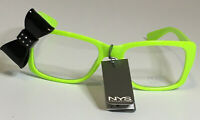 NYS COLLECTION GLASSES STYLE 1761 Cosplay Neon Green Frames with Black Bow UV400