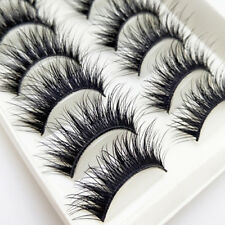 KD_ 10 Pairs Fiber Long Thick Handmade Cross Fake Eyelashes Makeup Tools Dream