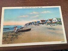 CT Old Lyme 1939 postcard HOMES AT HAWKS NEST BEACH