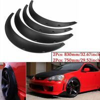 4X Universal Flexible JDM Fender Flare Widened Body Wheel Car Fitting Protector