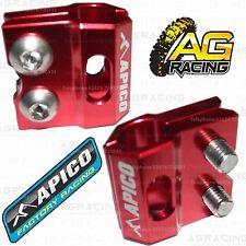 Apico Rojo Freno Manguera Freno línea Abrazadera Para Honda Cr 250 2008 08 Motocross