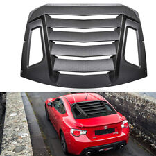 Matte Black Rear Window Louvers Sun Shade For Subaru BRZ Scion FR-S Toyota GT86
