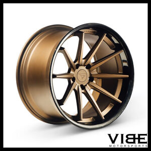 "20"" FERRADA FR4 BRONZE CONCAVE WHEELS RIMS FITS HONDA ACCORD"