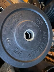"""Hi-Temp 2 x 5 lb bumper plates weights 14"""" Solid Recycled Rubber Factory 2nds"""