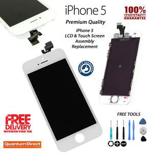 WHITE iPhone 5 A1429 Retina LCD Replacement & Digitiser Touch Screen Grade *AAA*