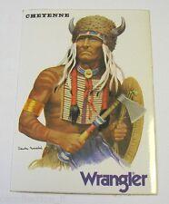 ADESIVO anni '80 / Old sticker CHEYENNE wrangler (cm 8x12) indian far west